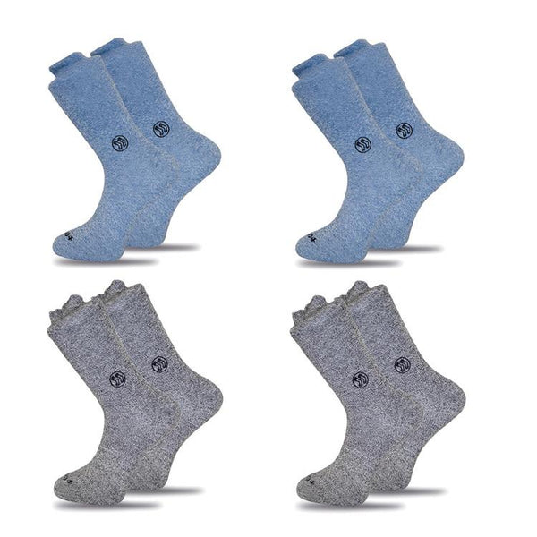 4x Mixed Pack Twisted Cotton Socks-Stand4 Socks-MAMOQ