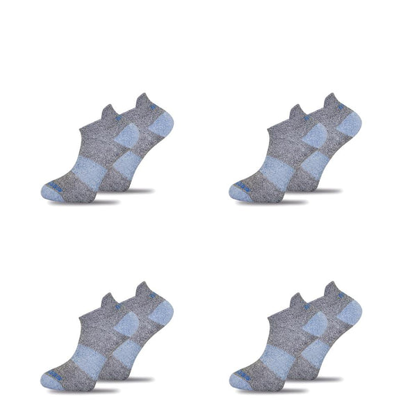 4x Pack Bundle Grey Twisted Cotton Ankle Socks-Stand4 Socks-MAMOQ