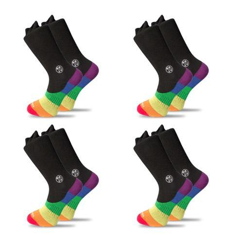 4x Pack Bundle LGBT - Combo Office Bamboo Sock-Stand4 Socks-MAMOQ