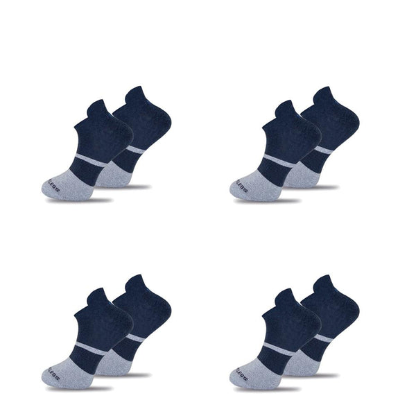 4x Pack Bundle Navy Twisted Cotton Ankle Socks-Stand4 Socks-MAMOQ