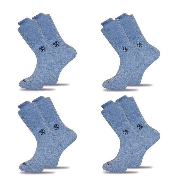 4x Pack Homeless Blue Twisted Cotton Sock-Stand4 Socks-MAMOQ