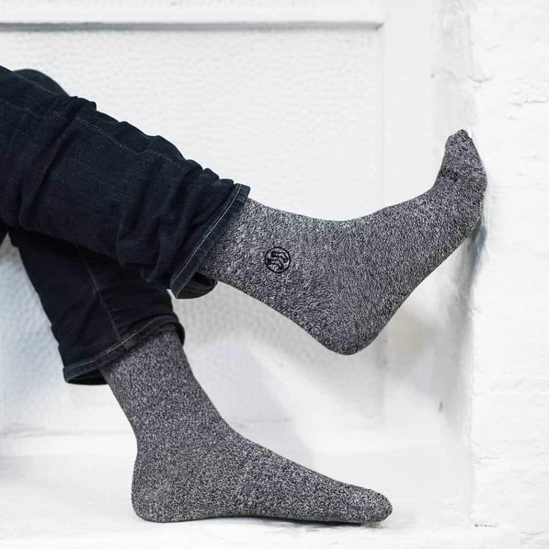 4x Pack Homeless Grey Twisted Cotton Sock-Stand4 Socks-MAMOQ
