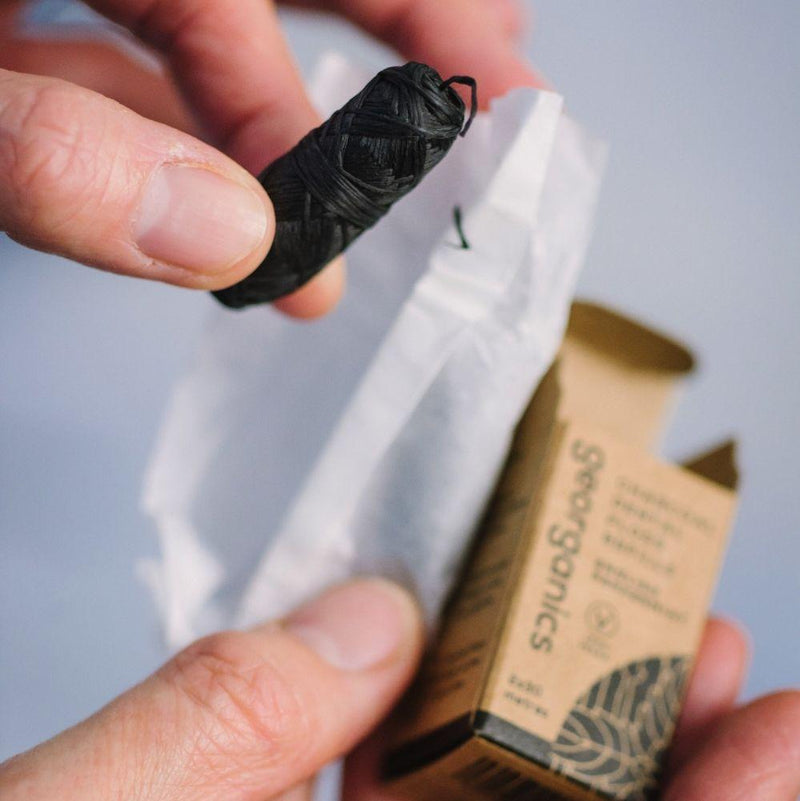 Activated Charcoal Natural Floss-Georganics-MAMOQ
