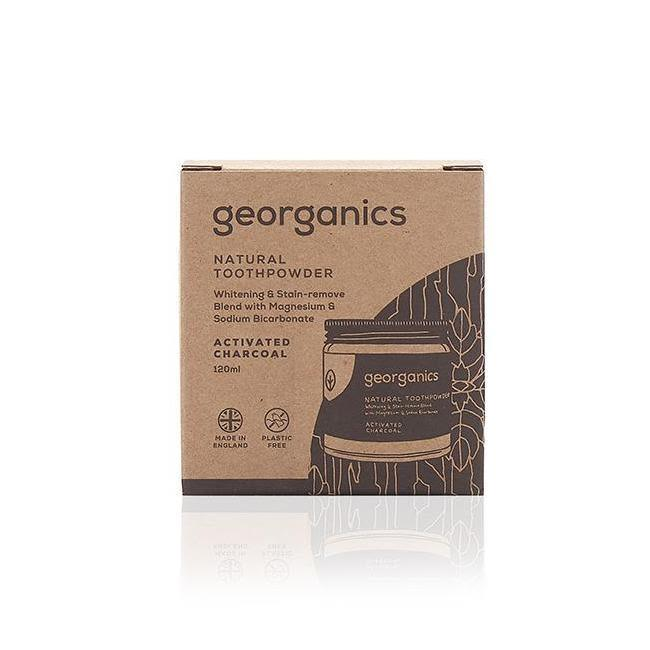 Activated Charcoal Natural Toothpowder-Georganics-MAMOQ