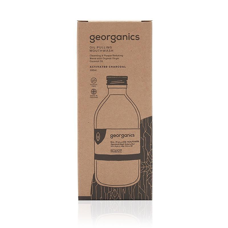 Activated Charcoal Oil Pulling Mouthwash-Georganics-MAMOQ