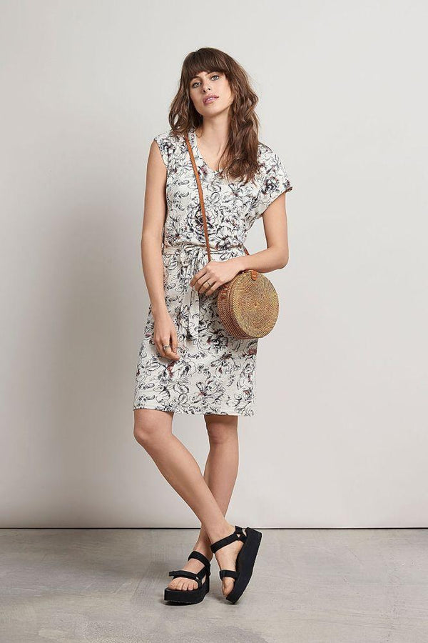 Alie Floral Hemp Dress-Komodo-MAMOQ