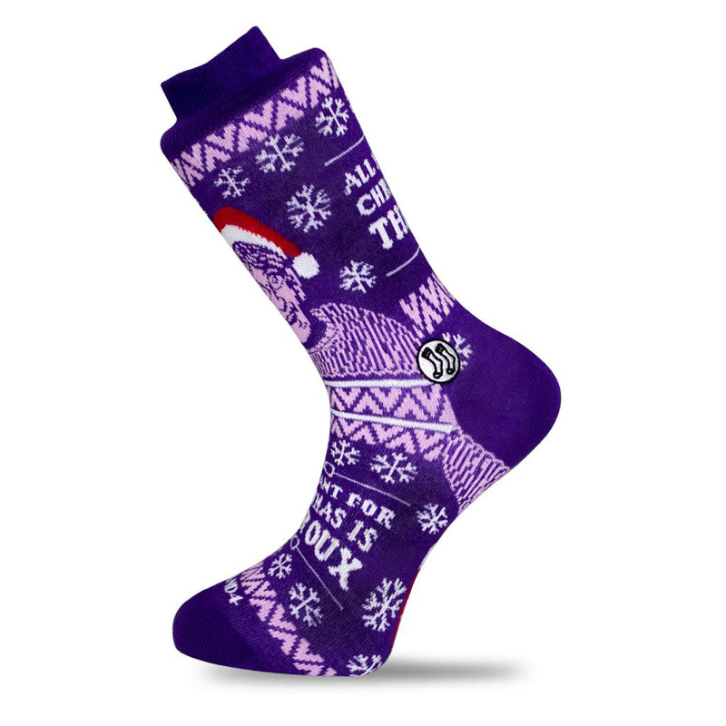 All I want for Christmas is Louis Theroux Socks-Socks-Stand4 Socks-MAMOQ