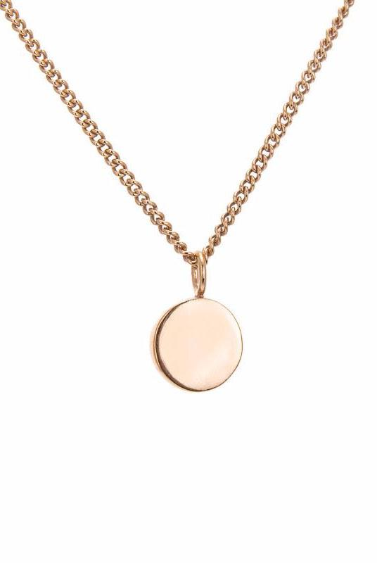 Amati 18K Gold Plated Small Disc Necklace-ANUKA Jewellery-MAMOQ
