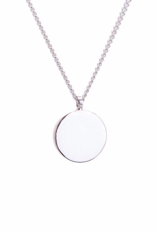 Amati Fairmined Silver Large Disc Necklace-ANUKA Jewellery-MAMOQ