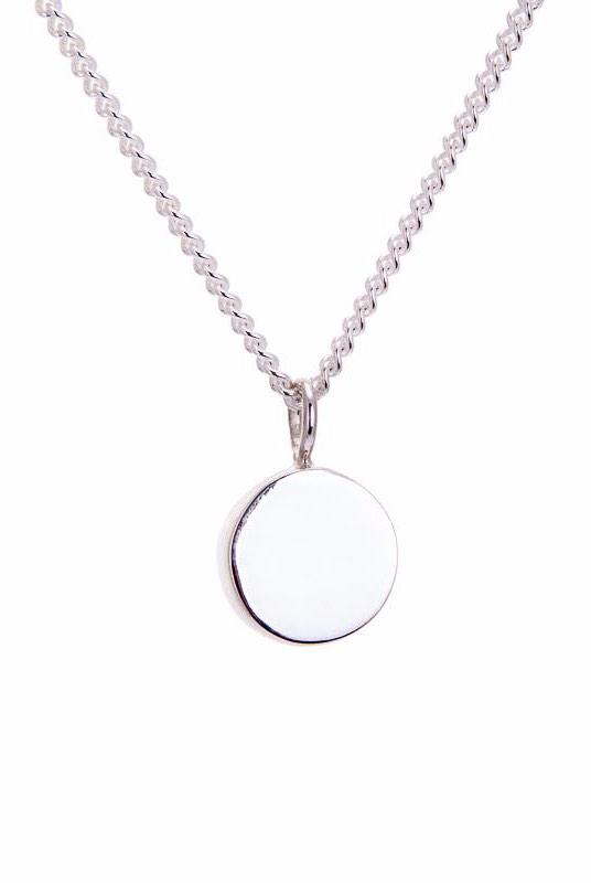 Amati Fairmined Silver Small Disc Necklace-ANUKA Jewellery-MAMOQ