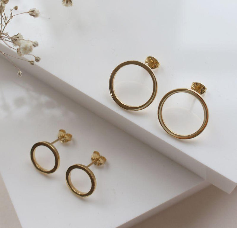 Amati Gold Small Earrings-ANUKA Jewellery-MAMOQ