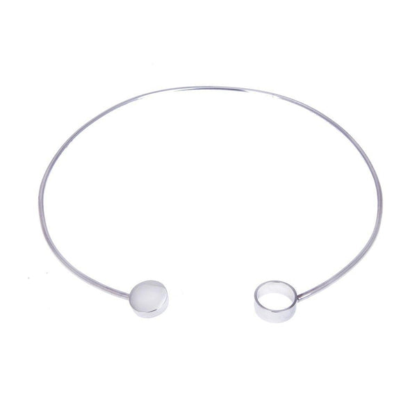 Amati Silver Collar Necklace-ANUKA Jewellery-MAMOQ