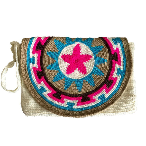Anchicayá Patterned Cotton Mochila Clutch Bag-Untold Treasures-MAMOQ