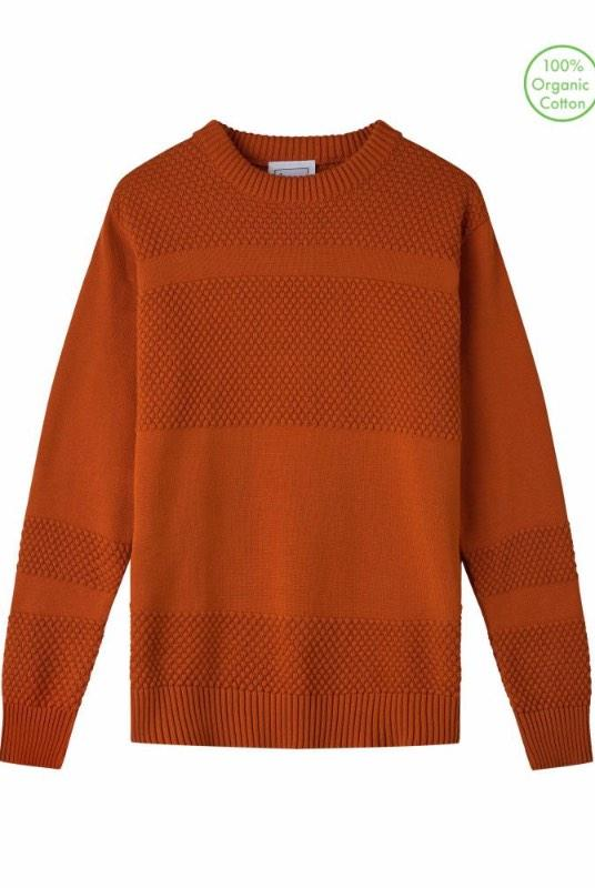 Anker Burnt Orange Organic Cotton Jumper-Le Pirol-MAMOQ
