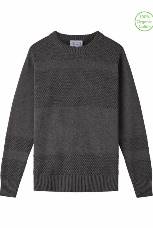 Anker Grey Organic Cotton Jumper-Le Pirol-MAMOQ
