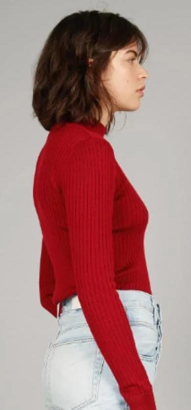 ARI Burnt Red Merino Wool Jumper-Jumper-Komodo-MAMOQ