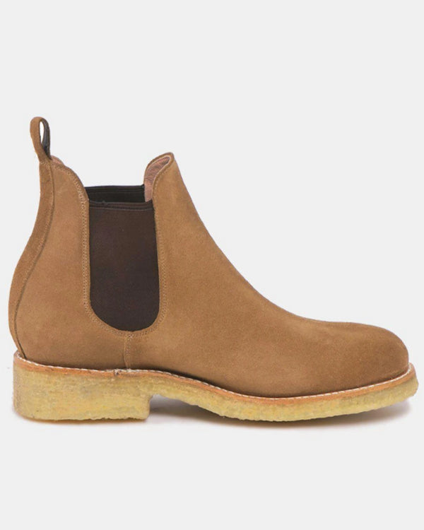Armando Natural Beige Suede Leather Chelsea Boots-Boots-CANO-MAMOQ