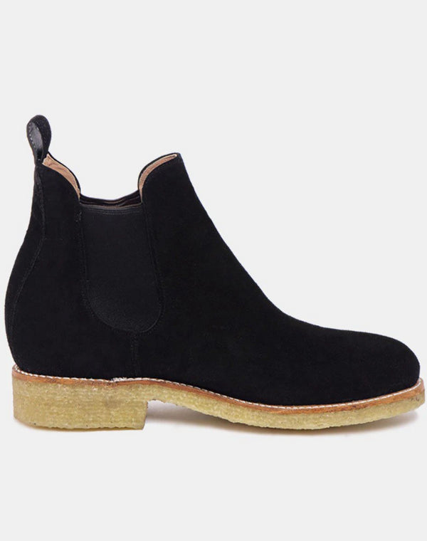 Armando Natural Black Suede Leather Chelsea Boots-Boots-CANO-MAMOQ