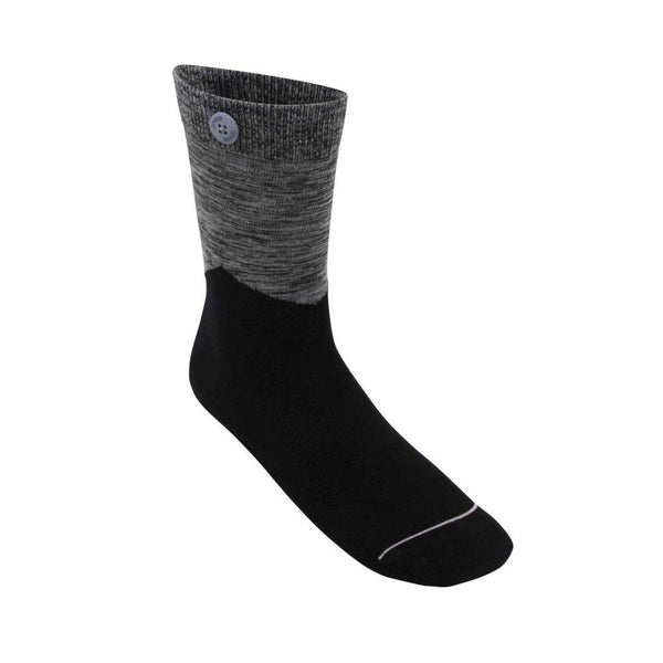 Arrow Black Organic Cotton Socks-Qnoop-MAMOQ