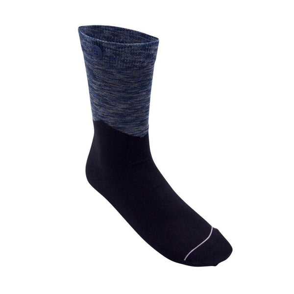 Arrow Navy Organic Cotton Socks-Qnoop-MAMOQ