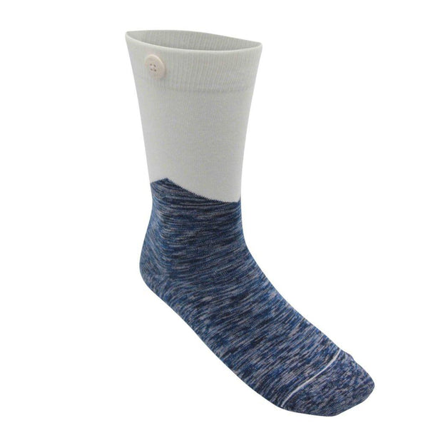 Arrow White Organic Cotton Socks-Qnoop-MAMOQ