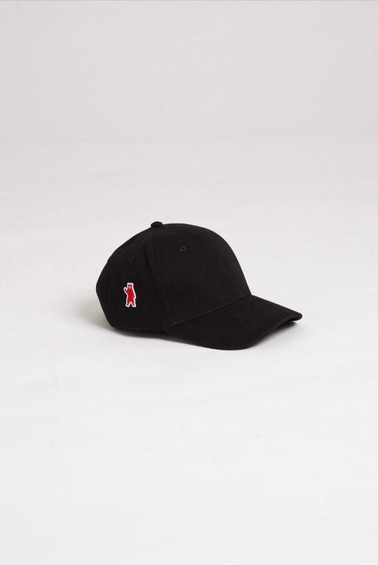 Ash Black Brushed Cotton Cap-Hats & Caps-Absolutely Bear-MAMOQ