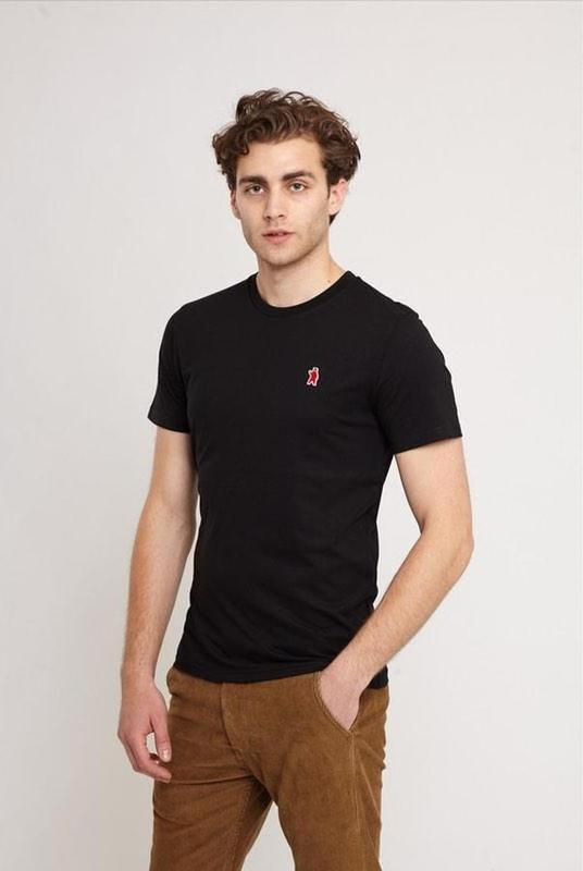 Aspen Black Organic Cotton T-Shirt-Absolutely Bear-MAMOQ