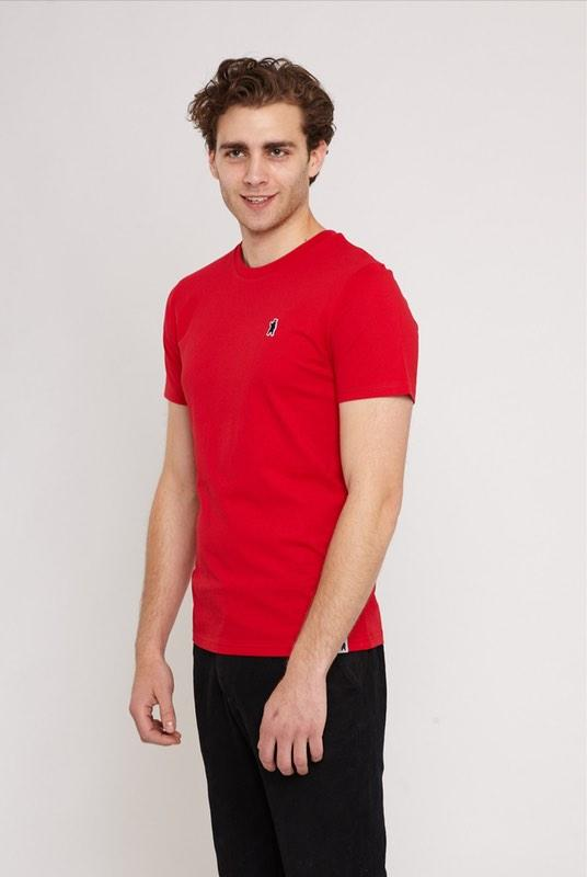 Aspen Scarlett Red Organic Cotton T-Shirt-Absolutely Bear-MAMOQ
