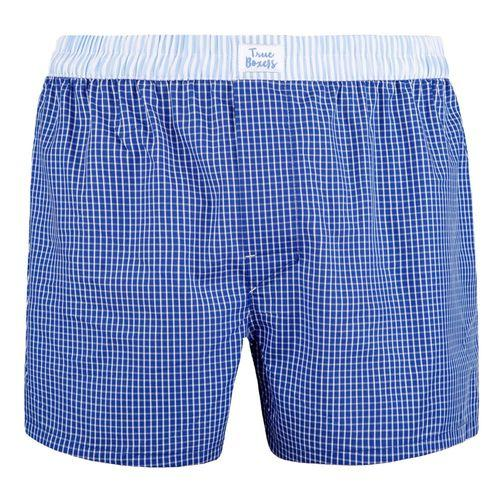 At Night Blue Cotton Boxers-True Boxers-MAMOQ