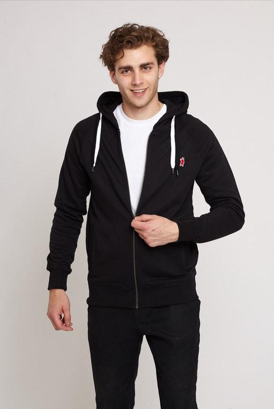 Atlas Black Organic Cotton Hoodie-Absolutely Bear-MAMOQ