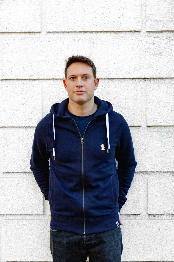 Atlas Navy Organic Cotton Hoodie-Absolutely Bear-MAMOQ