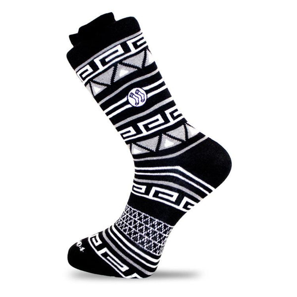 Aztec Black Cotton Socks-Stand4 Socks-MAMOQ