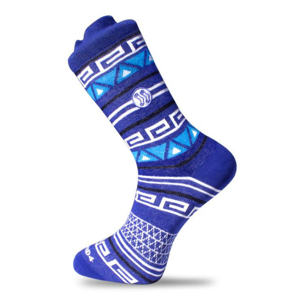 Aztec Double Blue Cotton Socks-Stand4 Socks-MAMOQ