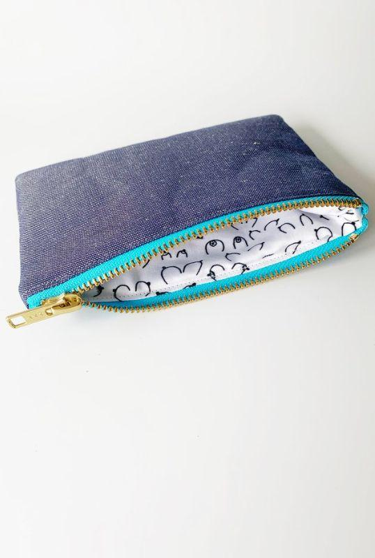 B Collection Navy Linen Purse-Eliza Eliza-MAMOQ
