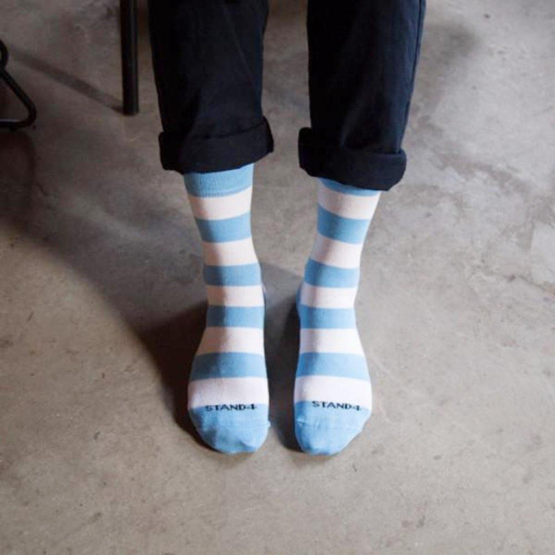 Baby Blue Vaccination Sock-Stand4 Socks-MAMOQ