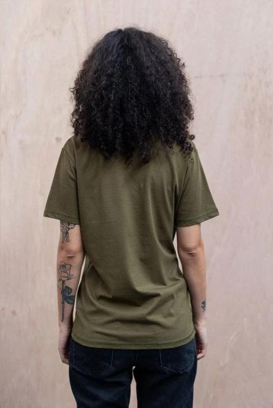 Bamford Unisex Khaki Green Organic Cotton T-Shirt-The Level Collective-MAMOQ
