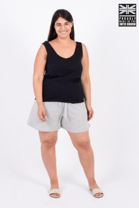 Basic Black Organic Cotton Vest Top-Zola Amour-MAMOQ