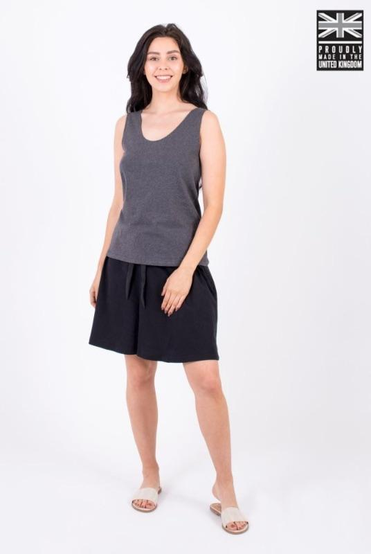 Basic Dark Grey Organic Cotton Vest Top-Zola Amour-MAMOQ