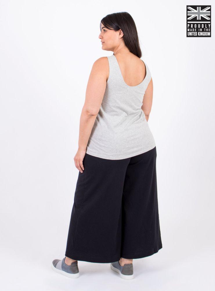 Basic Light Grey Organic Cotton Vest Top-Zola Amour-MAMOQ
