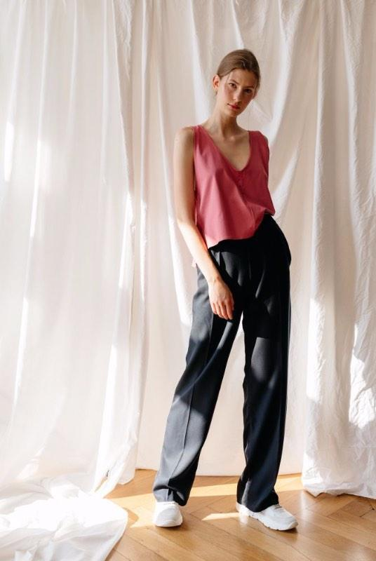 Be The Boss Tencel Wide Leg Trousers-ADVA-MAMOQ