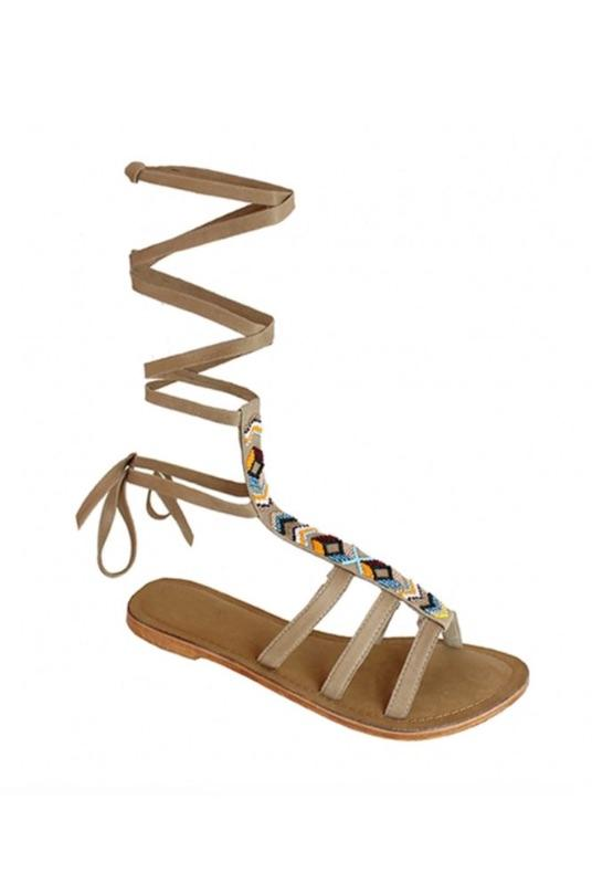 Becky Autumn Leather Ankle Strap Sandals-Aspiga-MAMOQ