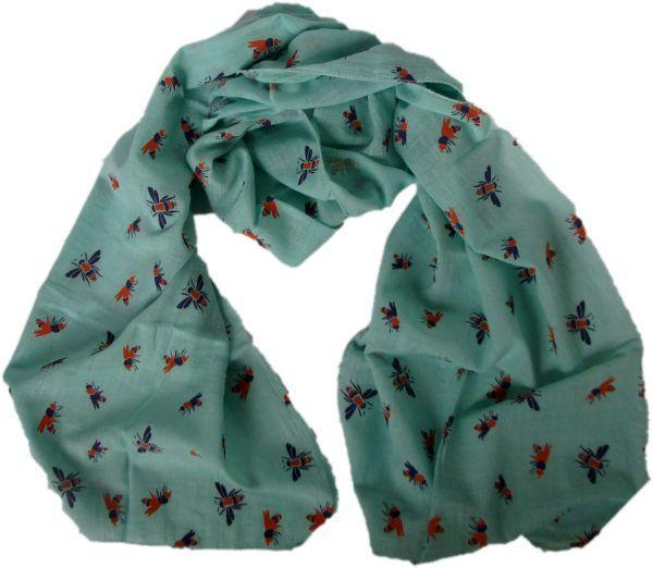 Bee Scarf Aqua-Where Does It Come From?-MAMOQ