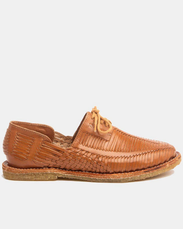 Benito Natural Cognac Women's Leather Shoes-Huarache-CANO-MAMOQ
