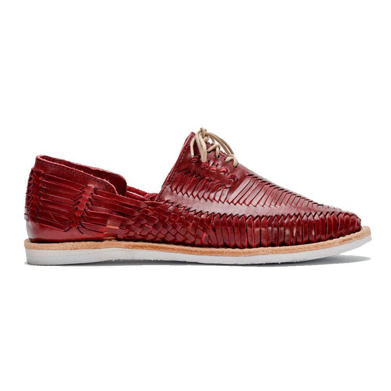 Benito Red and White Handmade Leather Shoes-CANO-MAMOQ