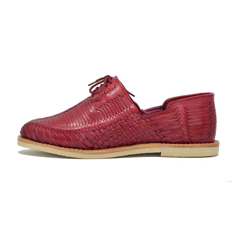 Benito Red Handmade Leather Shoes-CANO-MAMOQ