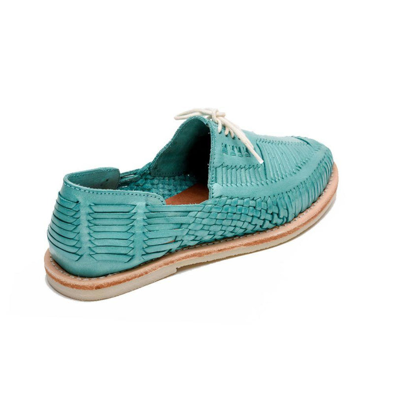 Benito Turquoise Handmade Leather Shoes-CANO-MAMOQ