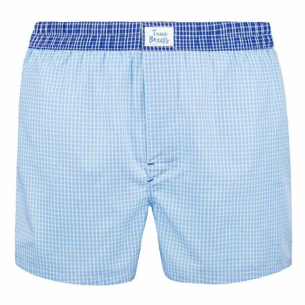Beyond The Clouds Blue Cotton Boxers-True Boxers-MAMOQ