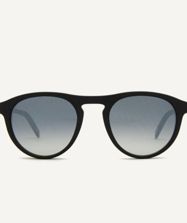 Biarritz Matte Recycled Black Sunglasses-Dick Moby-MAMOQ