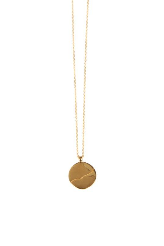 Birdsong 18K Gold Plated Coin Pendant Necklace-Birdsong-MAMOQ