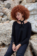 Black A-Line Long Sleeve T-Shirt-Asmuss-MAMOQ